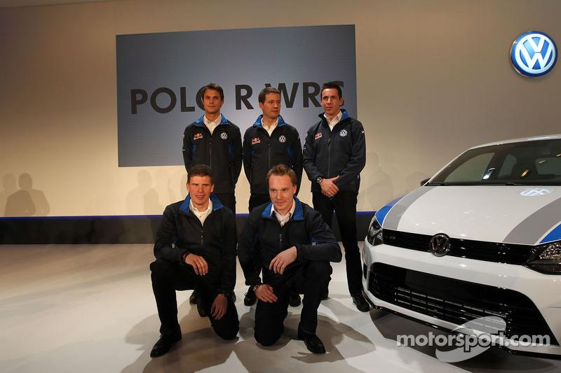 Andreas Mikkelsen, Jari-Matti Latvala, Miikka Anttila, Sébastien Ogier and Julien Ingrassia