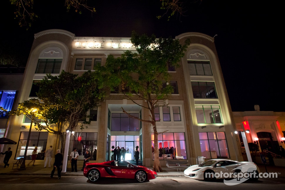 The Moore Building in Miami hosts to the McLaren P1 North American reveal