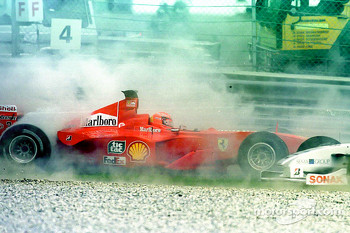 Start: Michael Schumacher crash