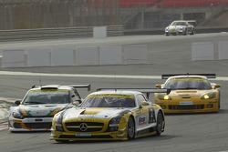 #2 Team Abu Dhabi by Black Falcon Mercedes SLS AMG GT3: Khaled Al Qubaisi, Sergei Afanasiev, Andreas Simonsen, Simon Knap, Steve Jans