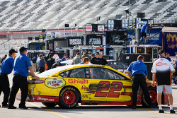 Wrecked car of Joey Logano, Penske Racing Ford