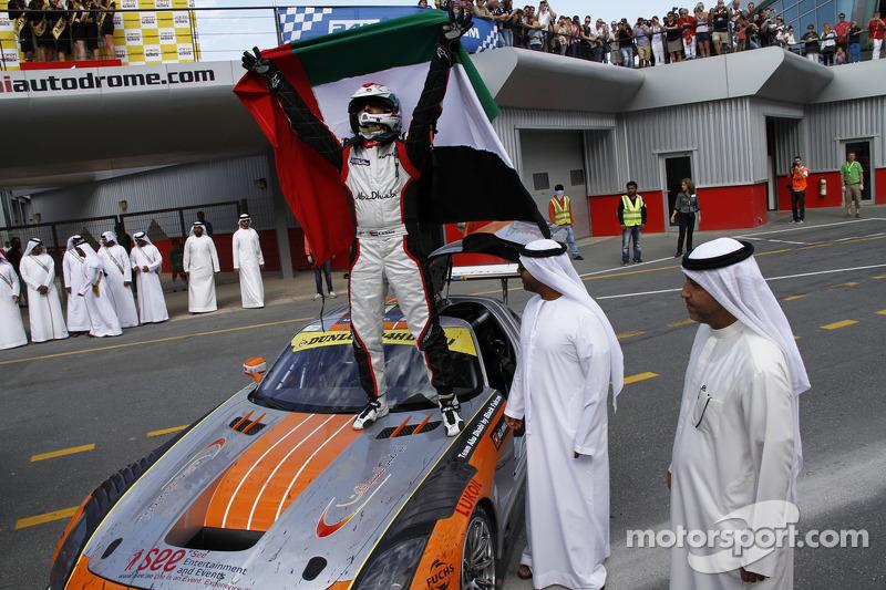 Khaled Al Qubaisi celebrates the win