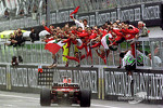 Michael Schumacher takes the win