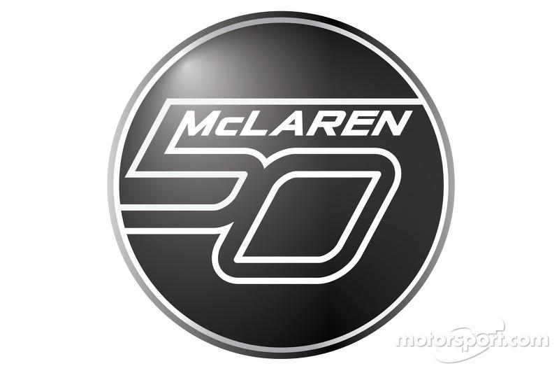 McLaren's 50th anniversary logo
