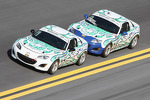 #27 Freedom Autosport Mazda MX-5: Rhett O'Doski, Derek Whitis and #26 Freedom Autosport Mazda MX-5: Andrew Carbonell, Rhett O'Doski 