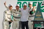 GT victory lane: class winners Filipe Albuquerque, Oliver Jarvis, Edoardo Mortara, Dion von Moltke celebrate