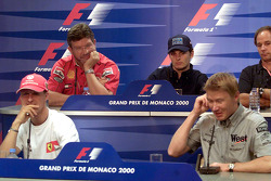 Press conference: Michael Schumacher, Ross Brawn, Giancarlo Fisichella, Mika Hakkinen, Gerhard Berger