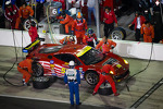 Pit stop for #56 AF - Waltrip Ferrari 458: Rui Aguas, Clint Bowyer, Robert Kauffman, Michael Waltrip