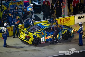 Pit stop for #13 Audi Sport Rum Bum Racing Audi R8 Grand-Am: Frank Biela, Christopher Haase, Matt Plumb, Markus Winkelhock