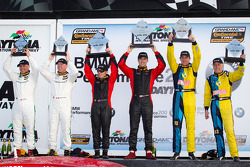 GS podium: class and overal winners Billy Johnson and Jack Roush Jr., second place Nick Longhi and Matt Plumb, third place David Empringham and John Farano