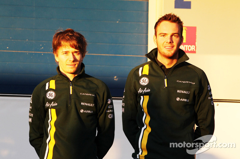 Charles Pic, Caterham and team mate Giedo van der Garde, Caterham F1 Team