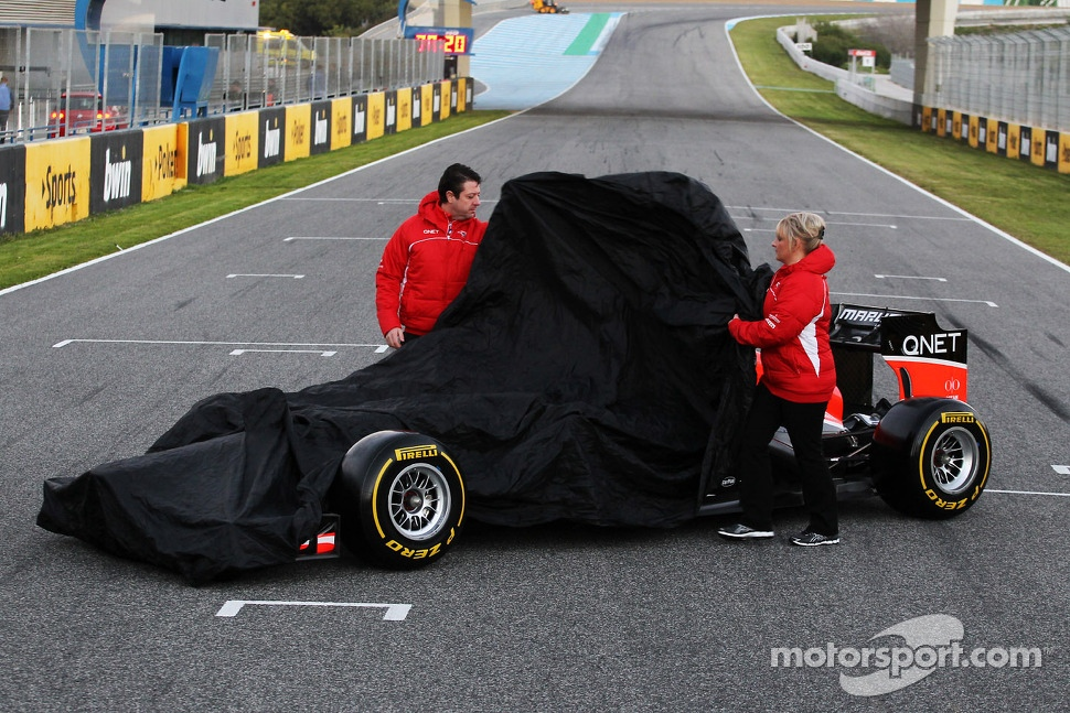 The new Marussia F1 Team MR02 is unveiled