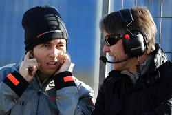 Sergio Perez, McLaren with Adrian Fernandez