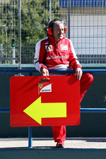 Ferrari pit board holder