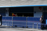 Red Bull Racing with the boards up in the pits