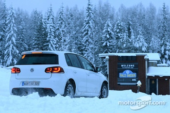 Sébastien Ogier and Julien Ingrassia, Volkswagen Polo during recce