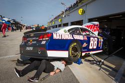 Hendrick Motorsports Chevrolet crew members at work