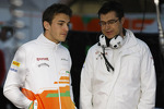 Jules Bianchi, Sahara Force India F1 with Bradley Joyce, Sahara Force India F1 Race Engineer