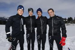 Adrien Tambay, Jamie Green, Lucas di Grassi and Marc Gene