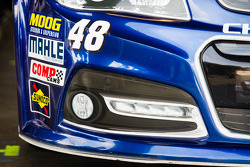 Front end spolier of Jimmie Johnson, Hendrick Motorsports Chevrolet