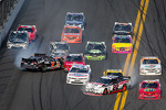 Last lap crash: Regan Smith spins out of control, Brad Keselowski spins in front of Sam Hornish Jr.
