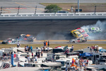 Lap 115 crash: Austin Dillon, Michael Annett, Kasey Kahne, Danny Efland, Johanna Long, Hal Martin, Mike Bliss, Jamie Dick and Jason White crash