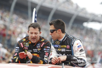 Tony Stewart and Aric Almirola