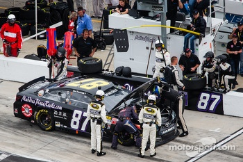 Joe Nemechek, NEMCO Motorsports Toyota in the pits