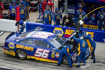 Martin Truex Jr., Michael Waltrip Racing Toyota in the pits