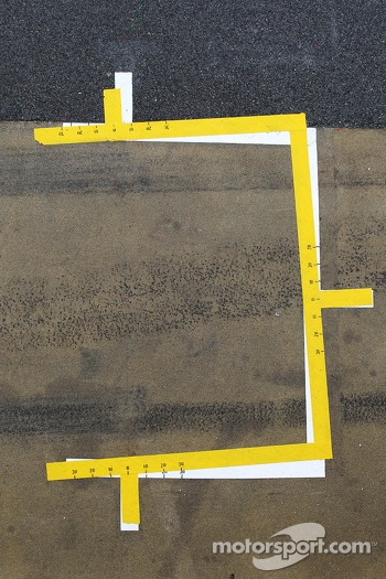 Pit box markings