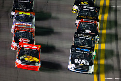 Justin Lofton and Ty Dillon battle for the lead