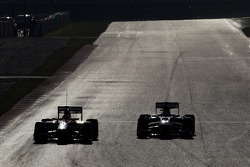 Jules Bianchi, Marussia F1 Team MR02 and Esteban Gutierrez, Sauber C32