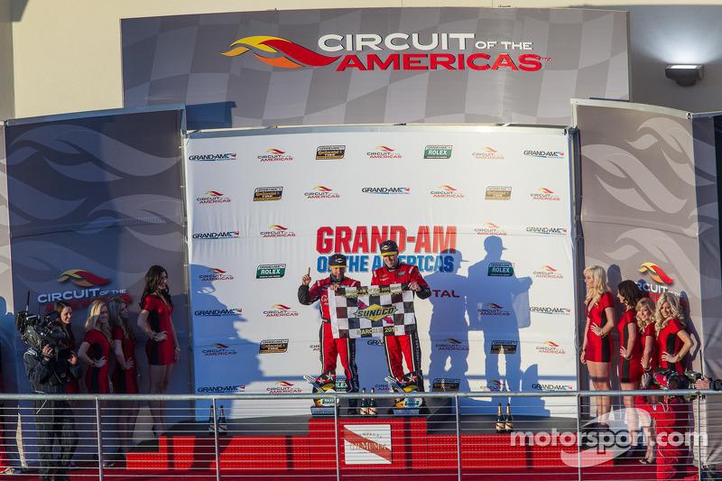 Podium: race winners Jon Fogarty, Alex Gurney