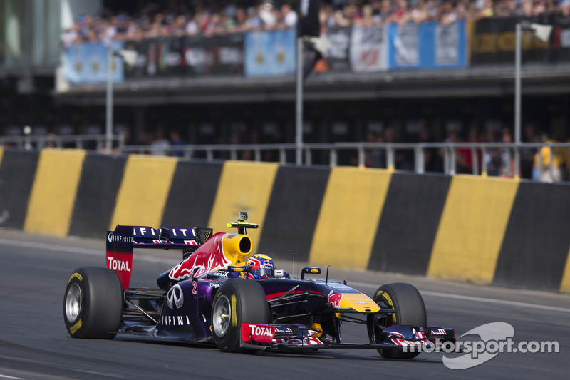 Mark Webber in the Red Bull F1
