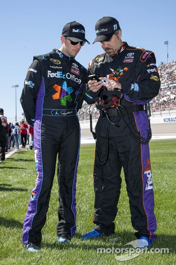 Denny Hamlin, Joe Gibbs Racing Toyota and crew chief Darian Grubb