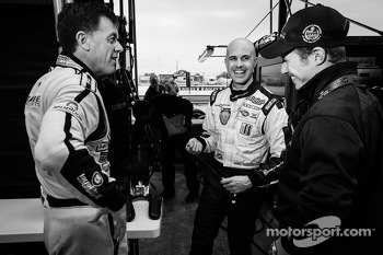 Scott Tucker, Marino Franchitti and Ryan Briscoe