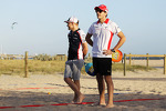 Jules Bianchi, Marussia F1 Team, and Valtteri Bottas, Williams play beach tennis