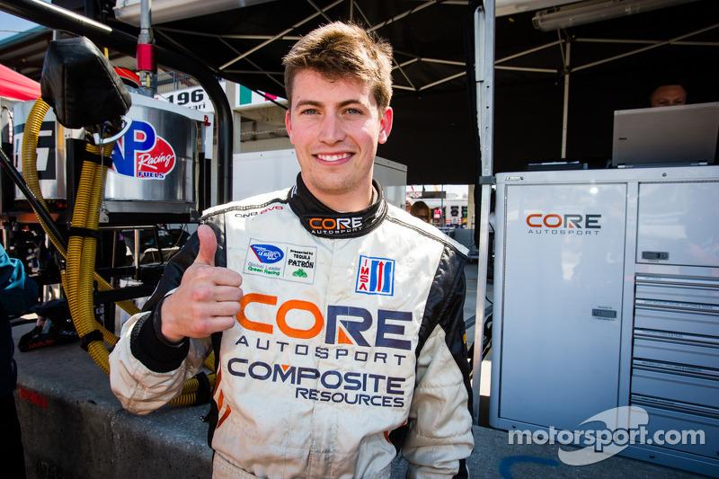 PC pole winner Colin Braun celebrates