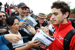 Jules Bianchi, Marussia F1 Team MR02 signs autographs for the fans