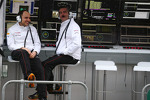 Gianpiero Lambiase, Sahara Force India F1 Engineer with Andy Stevenson, Sahara Force India F1 Team Manager on the pGary Anderson, BBC Sport Expert Analyst