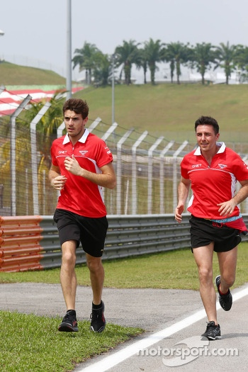 Jules Bianchi, Marussia F1 Team runs the circuit