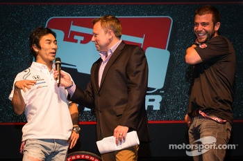 Drivers presentation: Takuma Sato, A.J. Foyt Enterprises Honda and EJ Viso, Team Venezuela / Andretti Autosport / HVM Chevrolet