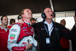 Pole winner Marcel Fässler with Dr. Wolfgang Ullrich