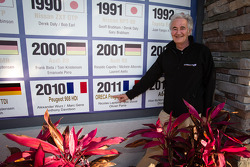 ORECA boss Hugues de Chaunac commemorates his win in 2011 at the Sebring International Raceway wall of champions