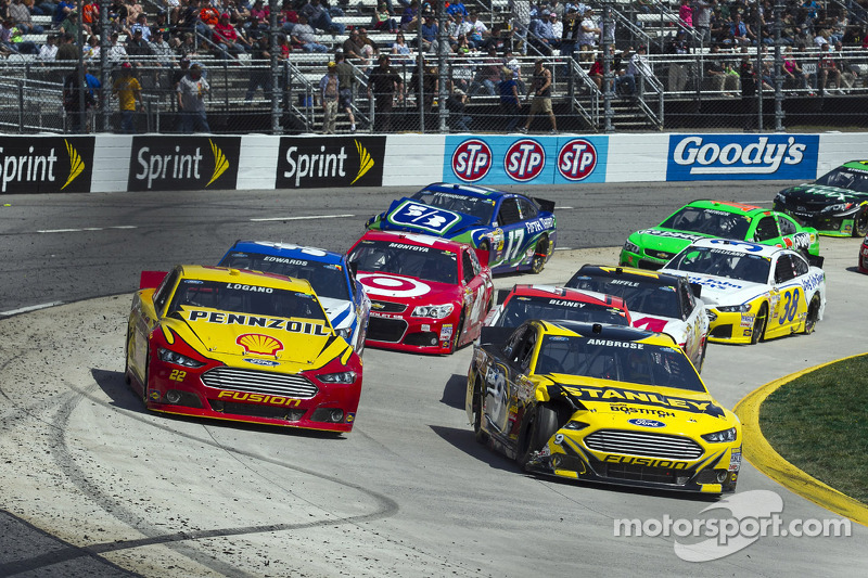 Joey Logano and Marcos Ambrose