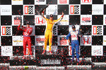 Victory circle: race winner Ryan Hunter-Reay, Andretti Autosport Chevrolet