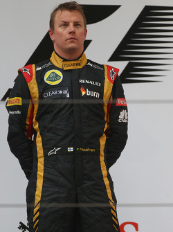 2nd place Kimi Raikkonen, Lotus F1 Team