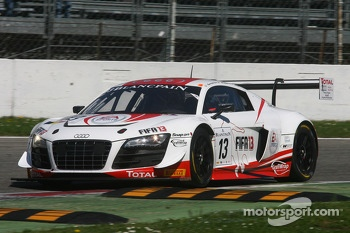 #13 Belgian Audi Club Team WRT Audi R8 LMS Ultra: Frank Stippler, Christopher Mies, Edward Sandström