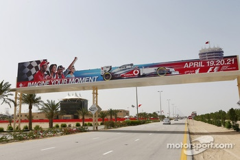 GP promotional advertising near the circuit