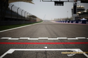 View from pole position on the grid